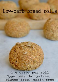 Flaxseed psyllium husk bread rolls that are easy to make and look like proper bread too! High in fibre, low in carbs and gluten free they are a great healthy bread roll. Lowest Carb Bread Recipe, Low Carb Bread, Bread Carbs, Vegan Bread, Keto Bread, Gluten Free Grains, Dairy Free, Grain Free, Egg Free Gluten Free Bread Recipe