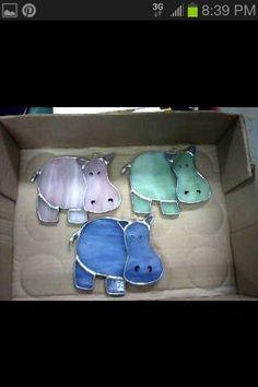 Baby Hippo Suncatchers