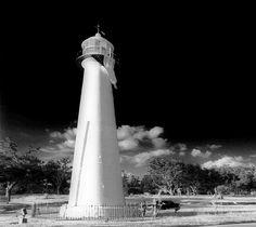 Biloxi Lighthouse in Biloxi, Mississippi.