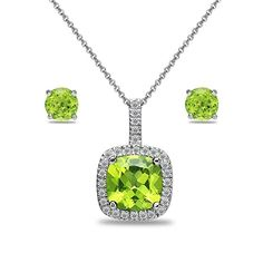 18K Gold Plated Multicolor Round Cut CZ Necklace+Stud Earring Set Zhang Trading Co Ltd