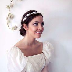 Tocado para novia en hilos de plata · Verbena, colección 2013 tocados para novia Lucia Be #headpiece #novia #bride