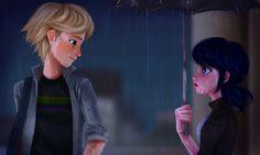 "adurrable-chatnoir: ""A friend"" —— I saw the umbrella scene, i cried, so i drew this."