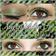 Green Eye Make Up - Datum: 16.03.11  http://talasia.blogspot.de/2011/05/amu-kiko-eyeshadow-63-colour-sphere-06.html