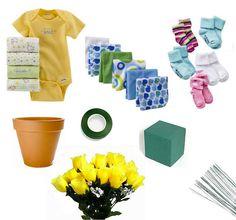 make a baby bouquet