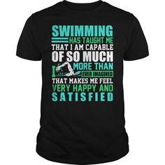 SWIMMING HAS TAUGHT ME Check more at http://swimmingteeshirts.com/?p=1131