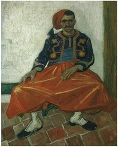 Vincent van Gogh Seated Zouave, The Painting
