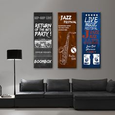 """""""Musical Instruments Poster Guitar  Saxophone Jazz Modern Pictures Industrial Canvas Painting for Living Room Office Decor"""" Office Wall Decor, Office Walls, Canvas Home, Canvas Wall Art, Guitar Wall, Nordic Art, Modern Pictures, Cheap Paintings, Living Room Pictures"""