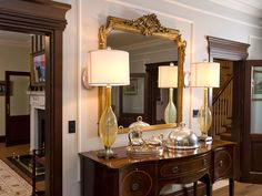 Complete Interior design of a new home incorporating antiques to create a luxurious interior. Designed by Missi Gray Interior design.