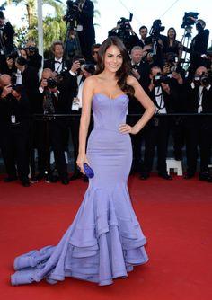 Ximena Navarrete 2014 Cannes Film Festival Red Carpet Lavender Mermaid ...