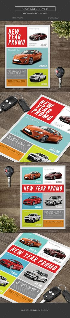 Automotive Car Sale Rental 3-Fold Brochure 02 Brochures - car for sale template