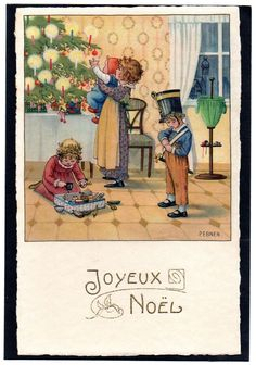 Artist:Pauli Ebner -1873-1949 Postcard - Natale Christmas Bambini Children - Scritta - EB226