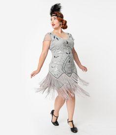 Vintage Plus Size Flapper Dress, Beaded Flapper Dress, Plus Size Evening Gown, 1920s Dress, Flapper Dresses, Evening Gowns, Unique Dresses, Trendy Dresses, Plus Size Dresses