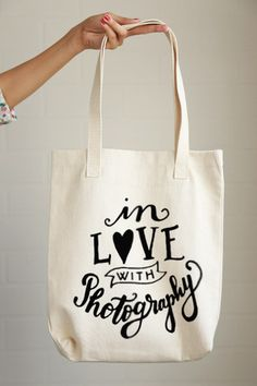 In Love with Photography Tote Bag