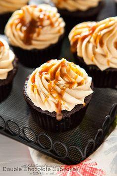 Double Chocolate Cupcakes with Salted Caramel Buttercream Really  Mein Blog: Alles rund um die Themen Genuss & Geschmack  Kochen Backen Braten Vorspeisen Hauptgerichte und Desserts