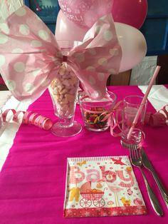 #babyshower #table #decoration #babyrosa #pink #sweets