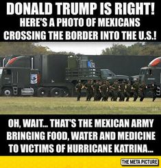 Quick!!!  Build a WALL!!!  A Really High Wall!!!!  #TrumpIsAMoron