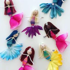 Handmade Little Mermaid Ornament Flower Fairy Doll Under theOur new collection of Mini Mermaids arriving soon!handmade whimsical fairies, mermaids and friends by WandsandWillows Little Mermaid Doll, Mermaid Dolls, Little Doll, Fairy Crafts, Doll Crafts, Mermaid Ornament, Mermaid Crafts, Under The Sea Theme, Clothespin Dolls