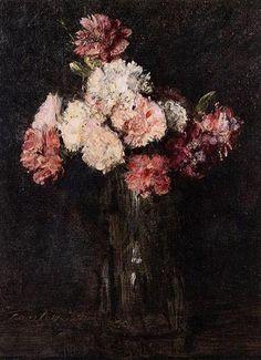 Carnations in a Champagne Glass - Henri Fantin-Latour