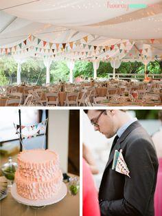 Bunting, bunting, and more bunting!  Wedding decor