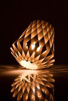 A True Piece of Lighting Decoration for Your Home - Showroom Finland Pilke Pendant Lamp Design by Tuukka Halonen Light Art, Lamp Light, Cool Lighting, Lighting Design, Lampe 3d, Wooden Lamp, Light Table, Light Decorations, Pendant Lamp