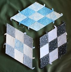 Cube quilt block From 3x 1x 2D 3D