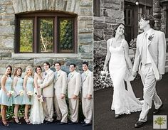 Bridal party and Bridal couple