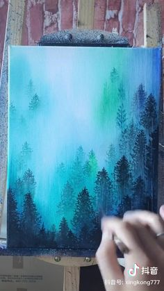 Easy Canvas Art, Small Canvas Art, Canvas Painting Tutorials, Painting Videos, Art Painting Gallery, Cool Art Drawings, Watercolor Paintings, Rain Painting, Acrylic Paintings