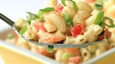 Like a classic deli macaroni salad but less sweet, this crowd pleaser with lots of colorful veggies is a great side for grilled food, barbeque, or just a humble hot dog.