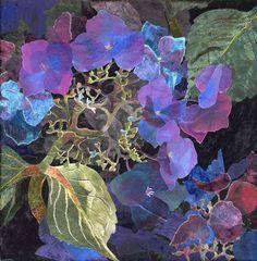 detail of Blue Lacecap Hydrangea 5 by Amanda Richardson - click to return