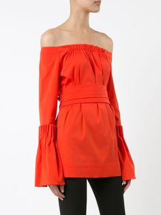 Oscar de la Renta off shoulder blouse