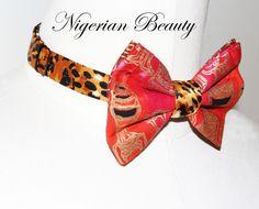 "Jay Nicole's Bows Pre-tied Silk #Nigerian "" #Beauty "" Adjustable Neckband #jaynicolesbows #bowties #designerjaynicole #african #mensfashion #womensfashion #fashion"