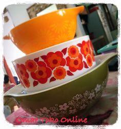 Arcopal, made in France Lotus pattern casserole #pyrex #springblossom #pyrexdaisy #arcopal #lotusarcopal
