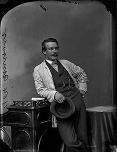 Mr. A. M. Holt photographed by William James Topley, July 1868, Ottawa, Canada.