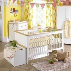 Blue And Yellow Baby Room