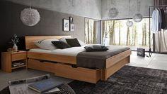 SalesFever Holzbett geschlossen mit Bettkästen »Camilla«