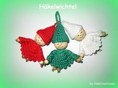 FREE crochet pattern hanging elves CLEH-Creationen: Freebies
