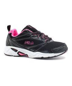 Black Geometric Running Shoe