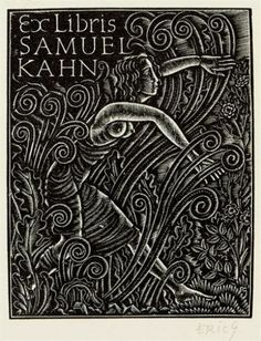 Exlibris by Eric Gill