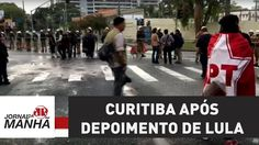 Clima em Curitiba é tranquilo no dia seguinte ao depoimento de Lula | Jo...