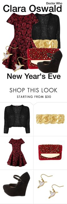"""""""Doctor Who"""" by wearwhatyouwatch ❤ liked on Polyvore featuring Phase Eight, Taya, Plein Sud, Emporio Armani, Charlotte Russe, television, wearwhatyouwatch and NewYearsEve"""
