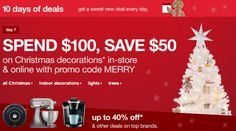 spend $100. save $50. on Christmas Decor today only