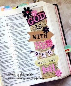 A Day in the life of a Country Mouse: Bible Journaling: God is With Her