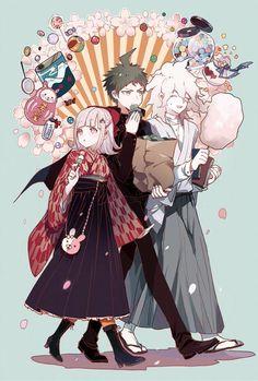 Nanami,Hinata and Komaeda