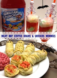 Milky Way Stuffed Brains, Snickers Mummies and Blood and Guts Punch -  #SpookyCelebrations #Shop  In The Kitchen With KP