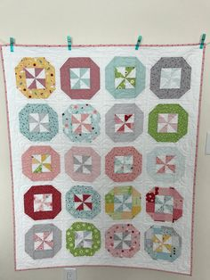 This beautiful baby quilt was made in my smoke free home. It was created from beautiful Riley Blake fabric. Riley Blake is a Premium quilt shop quality fabric that will withstand many childhood memories! This exquisite fabric is fun and feminine, perfect for that baby girl in your