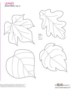 Mollie makes, Felt Leaf Template…