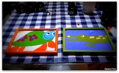 Kids picture frame using fabric