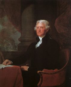Thomas Jefferson, (1743-1826).  Served as the 3rd President from 1801-1809.