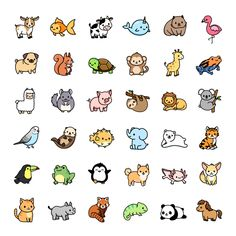 Easy Animal Drawings, Easy Doodles Drawings, Easy Doodle Art, Cute Animal Drawings Kawaii, Cute Easy Drawings, Mini Drawings, Cute Cartoon Drawings, Simple Doodles, Cute Doodles