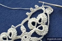 MyPicot is always looking for excellence and intends to be the most authentic, creative, and innovative advanced crochet laboratory in the world. Crochet Stitches, Crochet Patterns, Irish Lace, Stitch Design, Doilies, Free Crochet, Crochet Earrings, Elsa, Creative